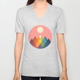 Rainbow Peak Unisex V-Neck