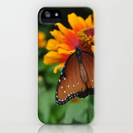Buterfly and Zinnea iPhone Case