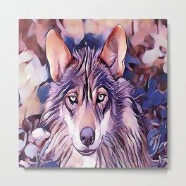 The Iberian Wolf Metal Print