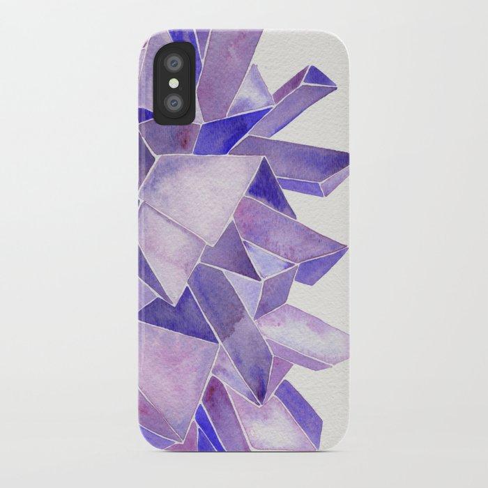 Amethyst Watercolor iPhone Case