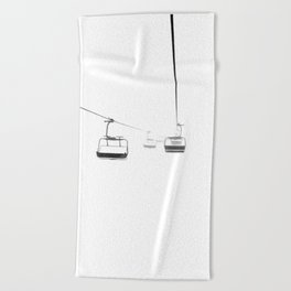 Lifts from and to nowhere Beach Towel