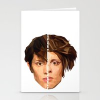 tegan and sara Stationery Cards featuring TEGAN AND SARA by MGNFQ