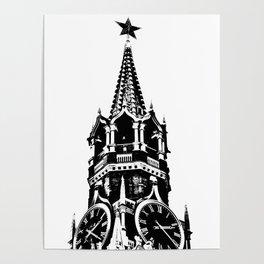Kremlin Chimes-b&w Poster