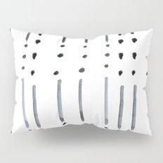 black and white dots and dashes boho modern Pillow Sham