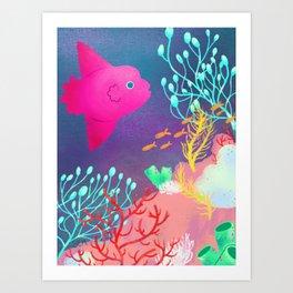 Mola Mola Sunfish Art Print