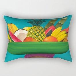 Tropical Fruit Basket Rectangular Pillow