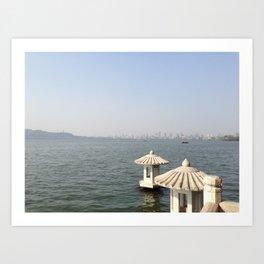 Hangzhou Lanterns Art Print
