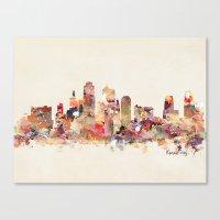 kansas city Canvas Prints featuring Kansas City Missouri by bri.buckley