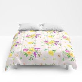 Watercolor Rose Pattern Comforters
