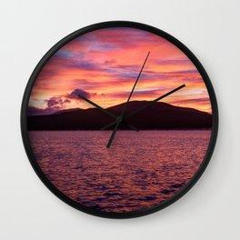 Fall Sunrise over Kennebago Lake Wall Clock