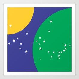 Brazilian Flag Abstract Art Print