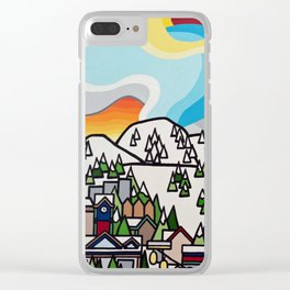 Almost Apres Ski Clear iPhone Case
