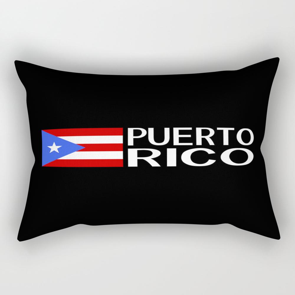 Puerto Rico: Puerto Rican Flag & Puerto Rico Rectangular Pillow RPW8975383