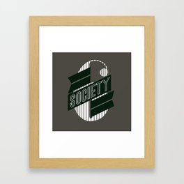 Stop: Banner Time Framed Art Print