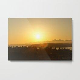 Hansville, WA- Sunset Metal Print