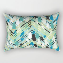 Chevron print with colorful stripes and lines Rectangular Pillow
