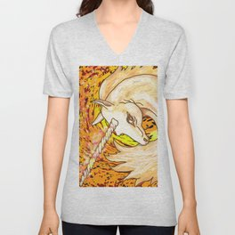 Otherworld Unicorns 6: Autumn Ether Unisex V-Neck