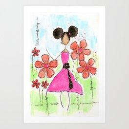 Tia, Hey Girl! Art Print