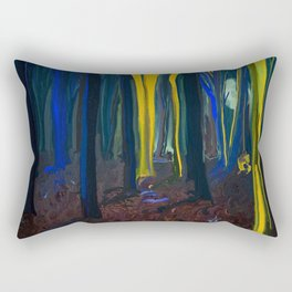 Stay Wild Yellow Moon Rectangular Pillow
