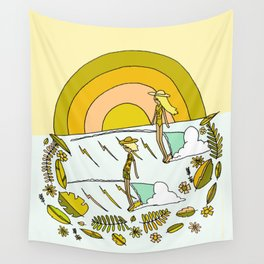 summer time daydreams surf till sunset // retro surf art by surfy birdy Wall Tapestry