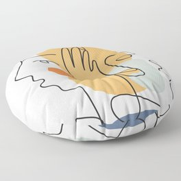 Abstract Faces 33 Floor Pillow