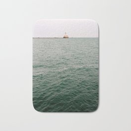 A Lighthouse View from Navy Pier, Chicago Bath Mat