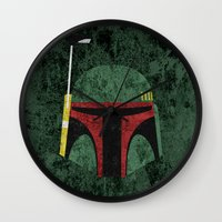 boba Wall Clocks featuring Boba Fett by Some_Designs