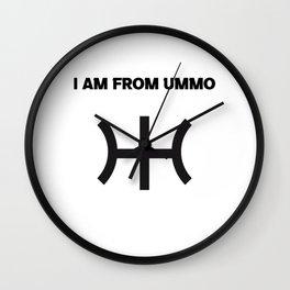 I AM FROM UMMO Wall Clock