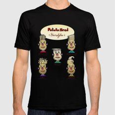 Classic Potato-Head Hairstyles Black Mens Fitted Tee LARGE