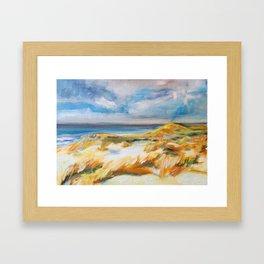 The Dunes in Ostend Framed Art Print