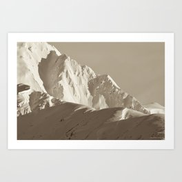 Alaskan Mts. - Mono I Art Print