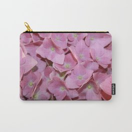 Pink Hydrangea Flowers Background Carry-All Pouch