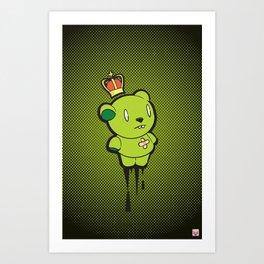 Green Dead Bear Art Print
