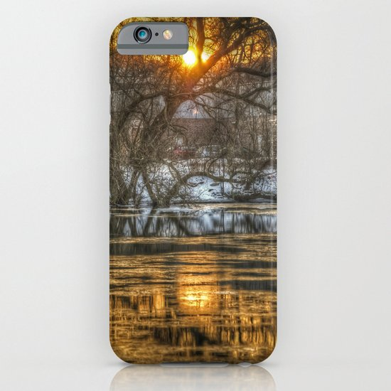 Berlin winter sunset iPhone & iPod Case