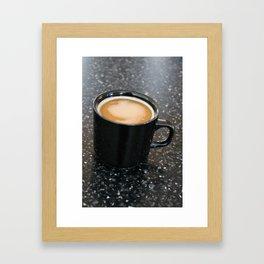 Coffee in a black mug 2 Framed Art Print