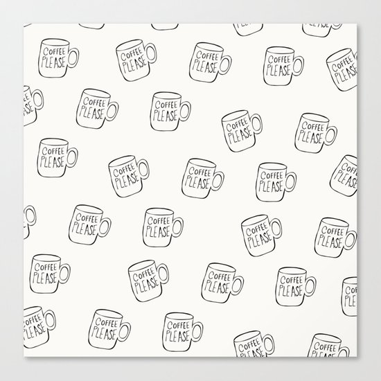 Coffee Cup Pattern for the Coffee Obsessed Canvas Print