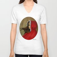red hood V-neck T-shirts featuring Red Riding Hood by Alannah Brid