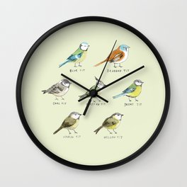 The Tit Family Wall Clock