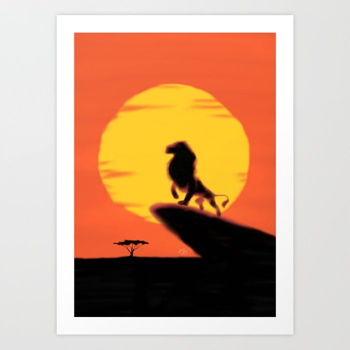 Lion King Sunset Art Print By Lizybeth93