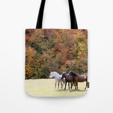 Horses Valley Tote Bag