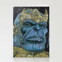 thanos Stationery Cards featuring Thanos of Titan by GraphixRob Studios