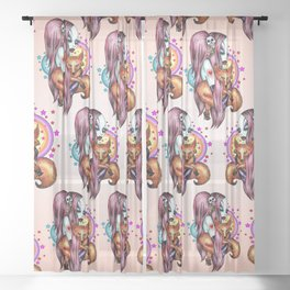 Foxy - Color Sheer Curtain