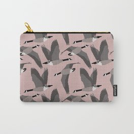 Canada Geese Flying in Buff Carry-All Pouch