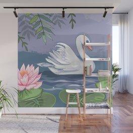 Swanning Around Wall Mural