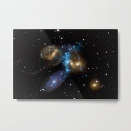 Stephan's Quintet of Five Galaxies in Constellation Pegasus Deep Space Telescopic Photograph Metal Print