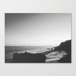 Malibu Coast - El Matador State Beach at Sunset Canvas Print