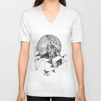 clear V-neck T-shirts featuring crystal clear by Chanda Stallman