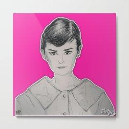 (Beauty Queen - Audrey Hepburn) - yks by ofs珊 Metal Print