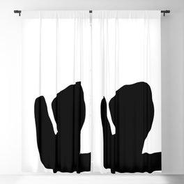 Nude silhouette figure - Nude black 001 Blackout Curtain