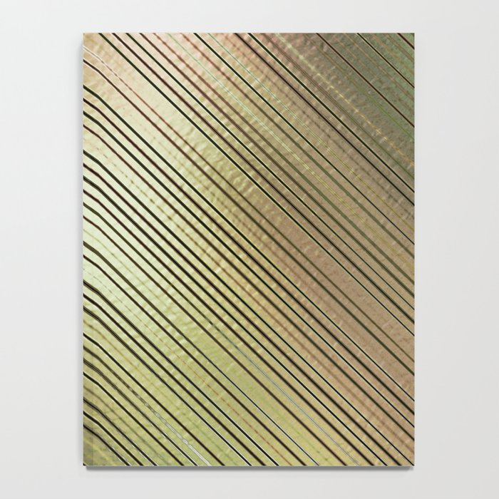 Golden Stripes Notebook